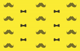 Tapisserie-Govember-Moustaches fond jaune