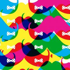 Tapisserie-Govember-Moustaches colorées